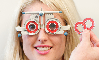 Women Eye Exam - AOP Image Library